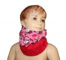 Šátek, nákrčník - HELLO KITTY - červeno-růžový