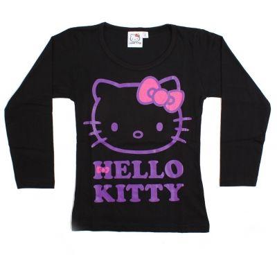 Triko dlouhý rukáv HELLO KITTY - černé Sanrio