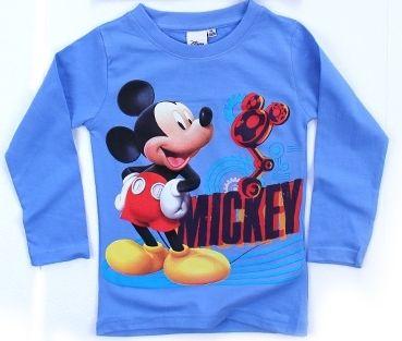 Triko dlouhý rukáv MICKEY MOUSE - sv.modré Disney