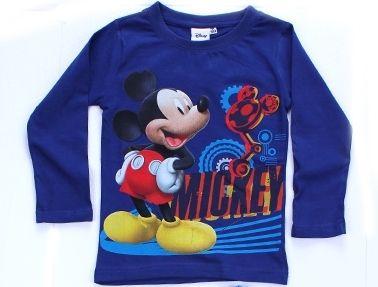 Triko dlouhý rukáv MICKEY MOUSE - tm.modré Disney
