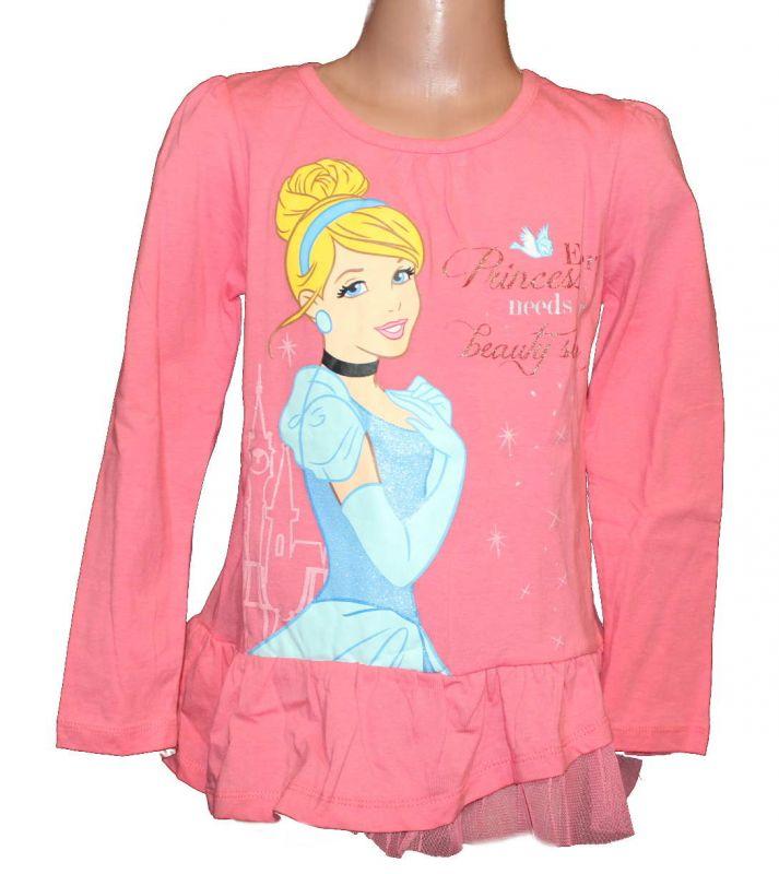 Triko dlouhý rukáv - tunika - PRINCESS - sv. růžová Disney