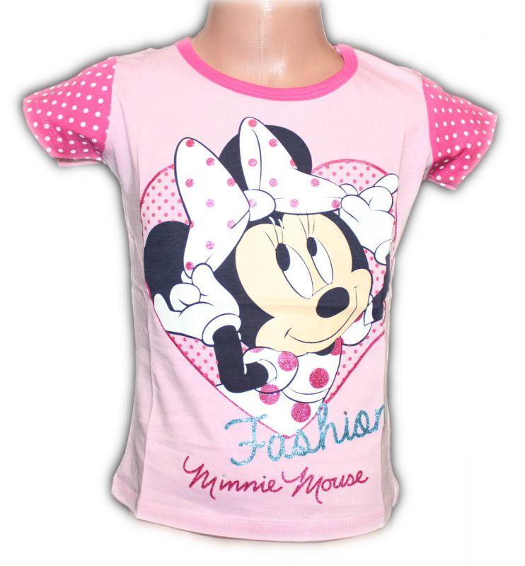 Triko krátký rukáv MINNIE- růžové Disney