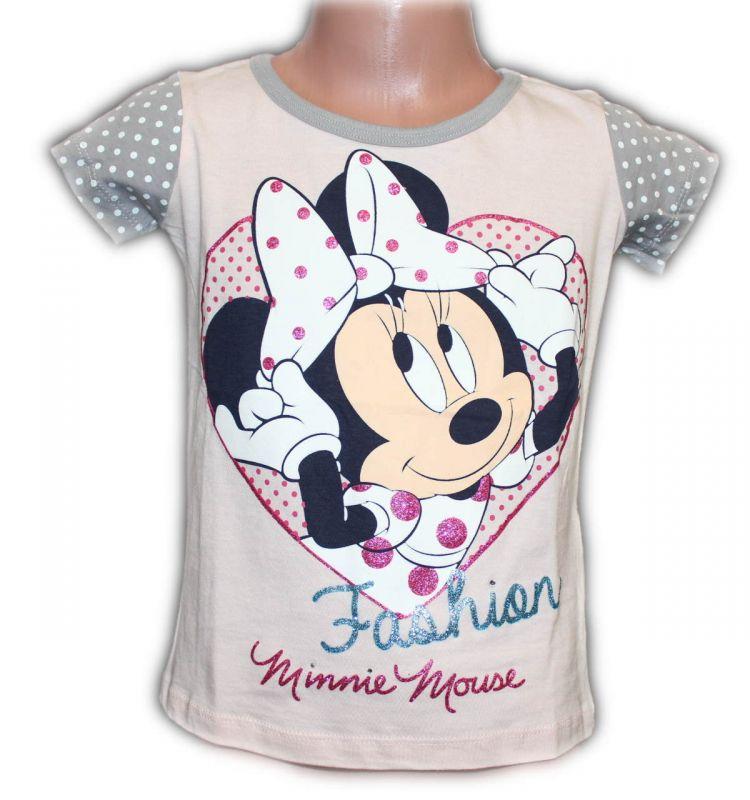 Triko krátký rukáv MINNIE- sv.růžové Disney