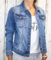 Dámská džínová bunda modrá, letní džínová bunda, džínová elastická bunda, modrá džínová bundička, modrá džíska, velká džínová bunda, velká džíska,  | 2XL, 3XL, 4XL