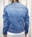 Dámská džínová bunda modrá, letní džínová bunda, džínová elastická bunda, modrá džínová bundička, modrá džíska, velká džínová bunda, velká džíska,
