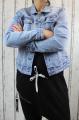 Dámská džínová bunda modrá, letní džínová bunda, džínová elastická bunda, pružná džíska, modrá džínová bundička, modrá džíska, velká džínová bunda, velká džíska, světle modrá džíska