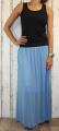 Dámská tylová sukně, tylová sukýnka, dlouhá tylová sukně, dámská dlouhá sukně, modrá tylovka, modrá tylová sukně