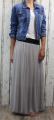 Dámská tylová sukně, tylová sukýnka, dlouhá tylová sukně, dámská dlouhá sukně, šedá tylovka