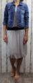 Dámská tylová sukně - krátká - šedá