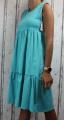 Dámské letní šaty, dámské bavlněné šaty, šaty volný střih, vzdušné šaty, lehké tílkové šaty, zelené šaty, volné šaty Italy Moda