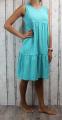 Dámské letní šaty, dámské bavlněné šaty, šaty volný střih, vzdušné šaty, lehké tílkové šaty, zelené šaty, volné šaty