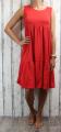 Dámské letní šaty, dámské bavlněné šaty, šaty volný střih, vzdušné šaty, lehké tílkové šaty, červené šaty, volné šaty Italy Moda