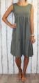 Dámské letní šaty, dámské bavlněné šaty, šaty volný střih, vzdušné šaty, lehké tílkové šaty, khaki šaty, volné šaty Italy Moda