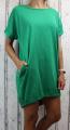 Dámské bavlněné šaty, vzadu na zavazování - volný střih  - zelené