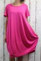 Dámské letní šaty, plážové šaty, pohodlné šaty, dámské dámské dlouhé šaty, dlouhé tm.růžové šaty, velké šaty, šaty pro plnoštíhlé