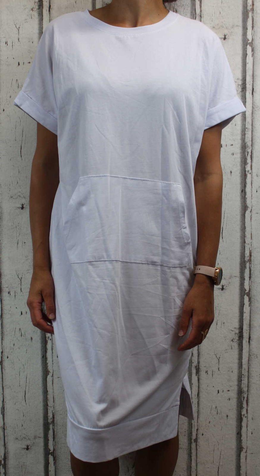 Dámské letní šaty, plážové šaty, pohodlné šaty, dámské dámské dlouhé šaty, dlouhé bílé šaty, dlouhé bavlněné šaty Italy Moda