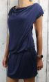 Dámské sportovní šaty spadlá ramena - tmavě modré