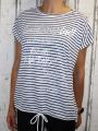 Dámské tričko krátký rukáv, dámské volné tričko, volná tunika, bavlněné triko, bavlněná volná tunika, pruhované tričko