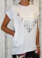 Dámské tričko krátký rukáv, široké bílé tričko, volná tunika, bavlněné triko, bavlněná volná tunika, volné bílé tričko