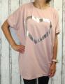 Dámské tričko krátký rukáv, široké starorůžové tričko, volná tunika, bavlněné triko, bavlněná volná tunika