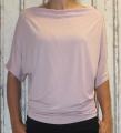 Dámské tričko krátký rukáv, tričko spadlá ramena, dámské volné triko, dámské růžové tričko