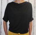 Dámské tričko krátký rukáv, tričko spadlá ramena, dámské volné triko, dámské černé tričko