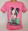 Triko krátký rukáv  Billie Eilish, dívčí tričkoBillie Eilish, oblečení  Billie Eilish, bavlněné tričko Billie Eilish, sv.růžové tričko Billie Eilish, růžové tričko | 176