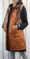 Dámská dlouhá vesta, dámská prošívaná vesta, dlouhá hnědá vesta, dámská vesta