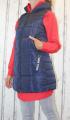 Dámská dlouhá vesta, dámská prošívaná vesta, dlouhá modrá vesta, dámská vesta, dámská vesta s kapucí, podzimní dlouhá vesta, jarní dlouhá vesta Italy Moda