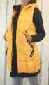 Dámská dlouhá vesta, dámská prošívaná vesta, dlouhá žlutá vesta, dámská vesta, dámská vesta s kapucí, podzimní dlouhá vesta, jarní dlouhá vesta | S, M, L, XL, XXL