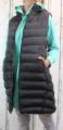 Dámská dlouhá vesta, dámská prošívaná vesta, dlouhá černá vesta, dámská vesta, dámská vesta s kapucí, podzimní dlouhá vesta, jarní dlouhá vesta, dlouhá vesta s odepínací kapucí | S, L, XL