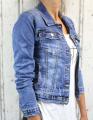 Dámská džínová bunda modrá, letní džínová bunda, džínová elastická bunda, modrá džínová bundička, modrá džíska, dámská džíska, dívčí džíska | M, L, XL, 2XL