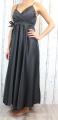 Dámské elegantní šaty, pohodlné šaty, černé elegantní šaty, dlouhé večerní šaty, šaty na ramínka, plesové dlouhé šaty, sexy dlouhé šaty, společenské dlouhé šaty, černé dlouhé šaty Italy Moda
