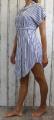 Dámské košilové šaty, dámská dlouhá košile, dámská košilová tunika, lehká dlouhá košile, košilové šaty, pruhované šaty, letní dámské šaty, modro-bílé šaty