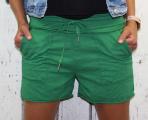 Dámské kraťasy, bavlněné kraťasy, zelené kraťasy, teplákové kraťasy, dámské šortky,