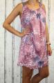 Dámské letní šaty, dámské bavlněné šaty, šaty volný střih, vzdušné šaty, šaty na ramínka, šaty s kytkami, růžové letní šaty