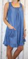 Dámské letní šaty, dámské bavlněné šaty, šaty volný střih, vzdušné šaty, šaty na ramínka, džínové letní šaty, modré šaty