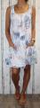 Dámské letní šaty, dámské bavlněné šaty, šaty volný střih, vzdušné šaty, šaty na ramínka, šaty s kytkami, bílé letní šaty