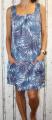 Dámské letní šaty, dámské bavlněné šaty, šaty volný střih, vzdušné šaty, šaty na ramínka, šaty s kytkami, modré letní šaty