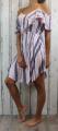 Dámské letní šaty, dámské plážové šaty, pruhované šaty, letní dámské šaty,růžovo-modré šaty, letní bílé šaty