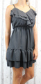 Dámské letní šaty, elegantní šaty, pohodlné šaty, černé šaty, černé  elegantní šaty, černé koktejlové šaty, šaty s volánem, šaty na ramínka