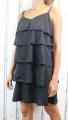 Dámské letní šaty, elegantní šaty, pohodlné šaty, černé elegantní šaty, černé koktejlové šaty, šaty s volány, šaty na ramínka