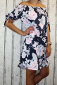 Dámské letní šaty, plážové šaty, dámská tunika, pohodlné šaty dámské šaty volný střih, šaty přes ramena, kytkované šaty, růžové šaty