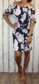 Dámské letní šaty, plážové šaty, dámská tunika, pohodlné šaty dámské šaty volný střih, šaty přes ramena, kytkované šaty, růžové šaty Italy Moda