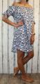 Dámské letní šaty, plážové šaty, dámská tunika, pohodlné šaty dámské šaty volný střih, šaty přes ramena, kytkované šaty,modro-bílé šaty