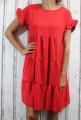 Dámské letní šaty, plážové šaty, dámská tunika, pohodlné šaty, dámské volné šaty, volná tunika, dámské oversize šaty, šaty áčkový střih, červené oversize šaty
