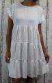 Dámské letní šaty, plážové šaty, dámská tunika, pohodlné šaty, dámské volné šaty, volná tunika, dámské oversize šaty, šaty áčkový střih, bílé oversize šaty