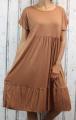 Dámské letní šaty, plážové šaty, pohodlné šaty, dámské dámské dlouhé šaty, dlouhé hnědé šaty, velké šaty, šaty pro plnoštíhlé, vzdušné šaty
