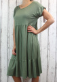 Dámské letní šaty, plážové šaty, pohodlné šaty, dámské dámské dlouhé šaty, dlouhé khaki šaty, velké šaty, šaty pro plnoštíhlé, vzdušné šaty, šaty pro silné postavy, šaty do A Italy Moda