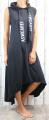 Dámské letní šaty, plážové šaty, pohodlné šaty, dámské dlouhé šaty, dlouhé černé šaty, velké šaty, sportovní šaty, šaty bez rukávů, šaty s kapucí, bavlněné dlouhé šaty, černé dlouhé šaty Italy Moda